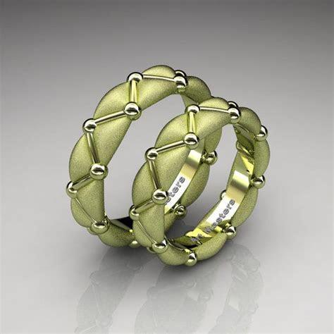 Italian 18K Green Gold Designer Formal Infinity Wedding