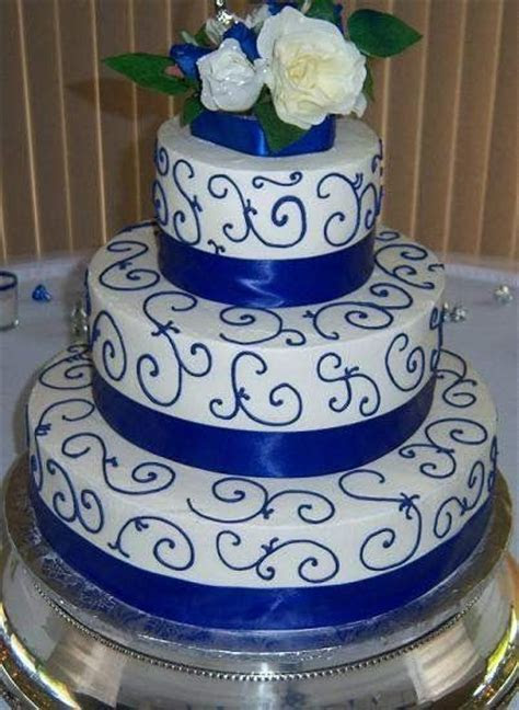 Royal Blue Wedding Cakes   Gold Wedding Cakes   Royal Blue