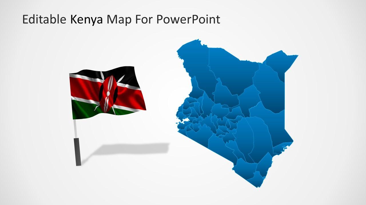 Editable Kenya PowerPoint Map