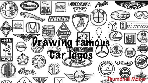 drawing famous car logos youtube