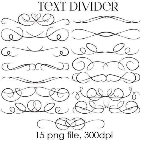 70% OFF SALE Text Dividers Digital Clipart   Wedding