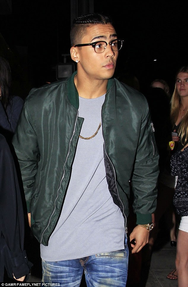Good life: He is the son of son of model and actress Kim Porter and Sean Combs while his biological father is Eighties New Jack Swing singer Al B Sure! He was also named after his godfather music legend Quincy Jones