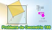 Problema de Geometría 189 (ESL): Dos Cuadrados con un Vértice Común. Distancias, Relaciones Métricas.