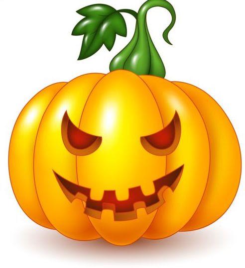 Creative halloween pumpkin vector material - Vector Halloween free download