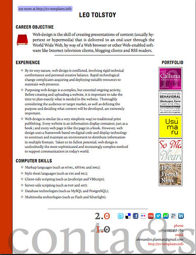 resume templates free. www.cv-templates.info/2009/08/