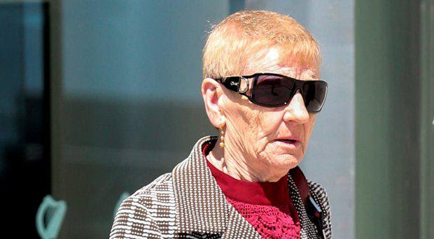 Mary Cullen (82) of Portland Row, Dublin leaves the Dublin Circuit Criminal Court where she pleaded guilty to 30 sample counts of falsely claiming social welfare, using false instruments and possession of false instruments between 1987 and 2015 in Dublin