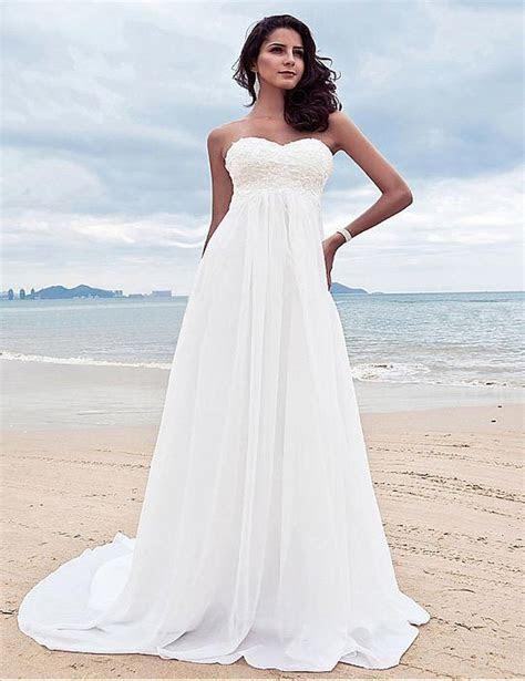 Beaded Chiffon Beach Wedding Dress ? The Faded Sunflower
