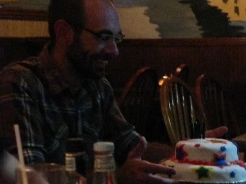Josh and his cake