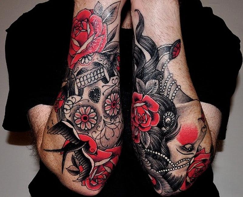 Dia De Los Muertos Sugar Skull Tattoo Design On Arm Tattoos Book