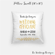 Wedding Officiant gift pillow customized wedding cushion