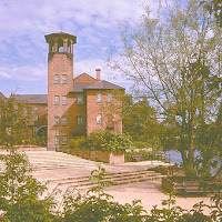 The Silk Mill beside the River Derwent at Cathedral Green