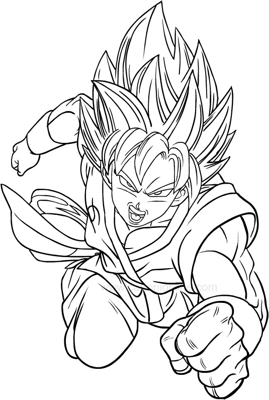 Drawing Dragon Ball Super Coloring Page