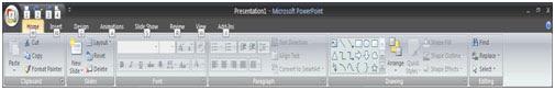 Semua perintah yang terdapat pada ribbon PowerPoint Mengakses Perintah dengan Keyboard - Powerpoint
