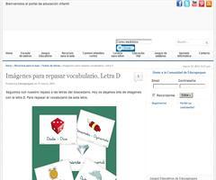 Excelente material para trabajar el vocabulario infantil: fichas con la letra D