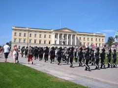 Changing Guard kat Royal Palace, Oslo, Norway