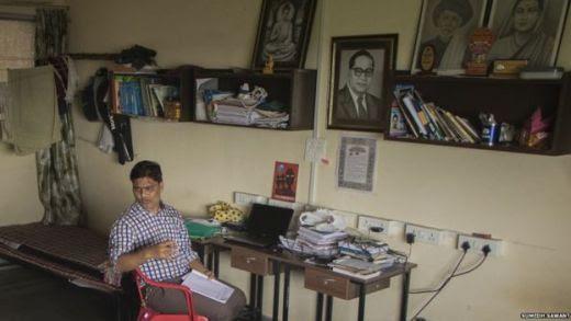 Mr Yadav's room in Mumbai