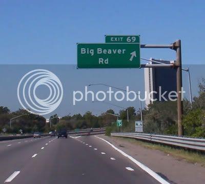 Exit 69 - Big Beaver Road