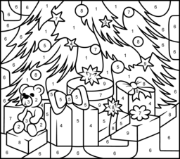 87 Free Christmas Coloring Pages By Numbers  Images