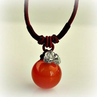 Halskette Gemstone, red