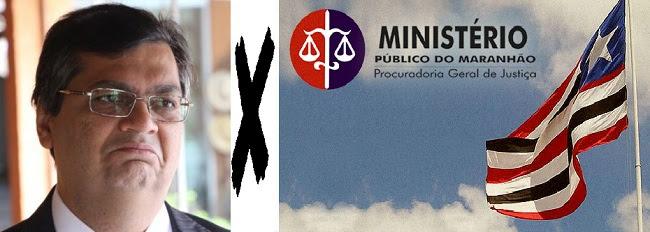 Governador Flávio Dino trava embate com o Ministério Público