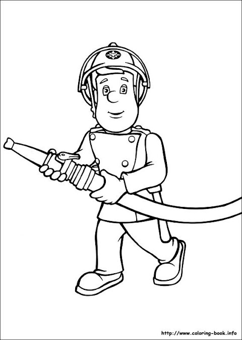 Cool Fireman Sam Coloring Pages