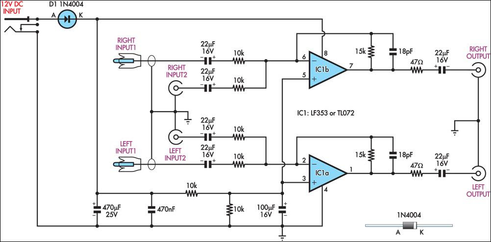 Usb Audio Amplifier Circuit Diagram - Circuit Diagram Images