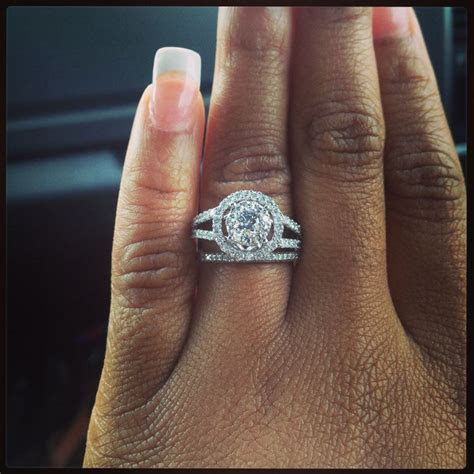 My beautiful ring :) double halo, split petite shank! With