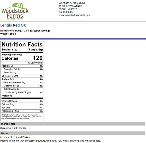 Nutrition News: Red Lentils Nutrition Facts