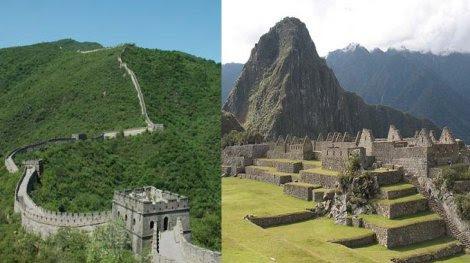 Machu Picchu y Muralla China aparecen juntos en libro