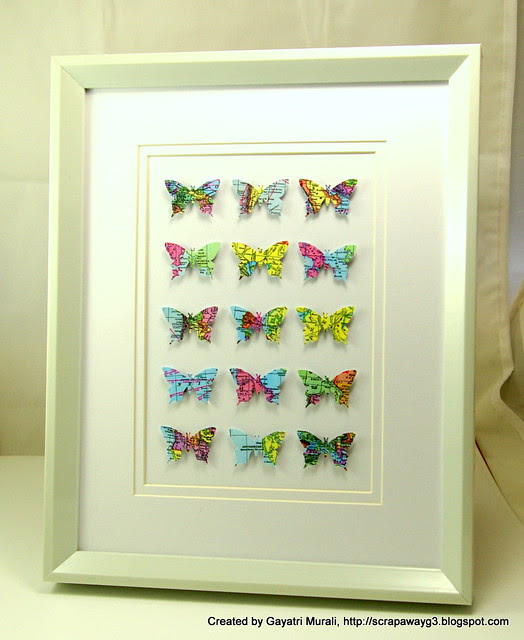 map butterfly frame