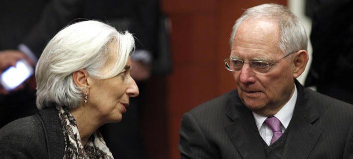 «Καβγάς» Σόιμπλε-Λαγκάρντ για τη βιωσιμότητα του ελληνικού χρέους