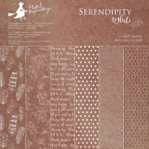 Bloczek papierów Serendipity White, 30,5cm x 30,5cm
