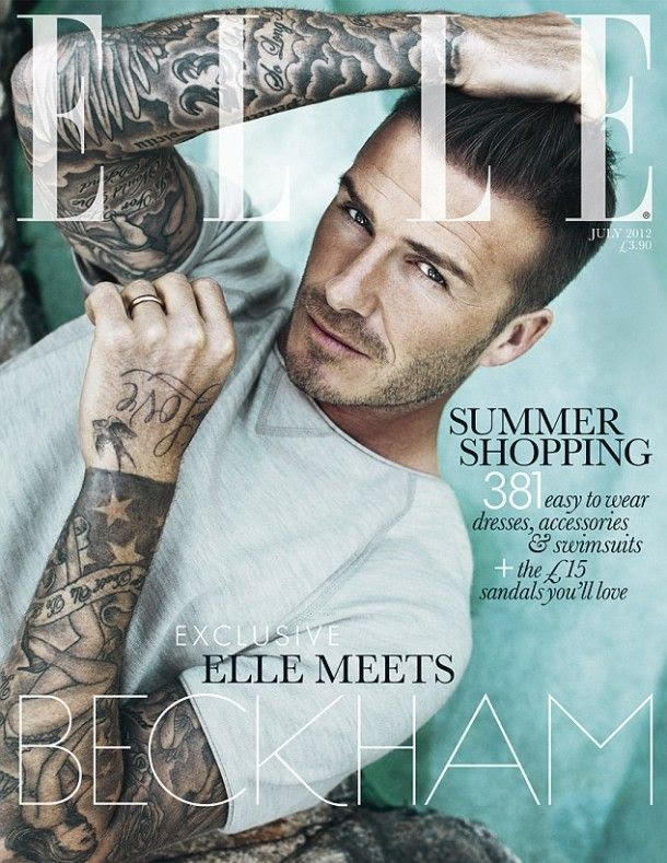 ELLE UK - July 2012, David Beckham