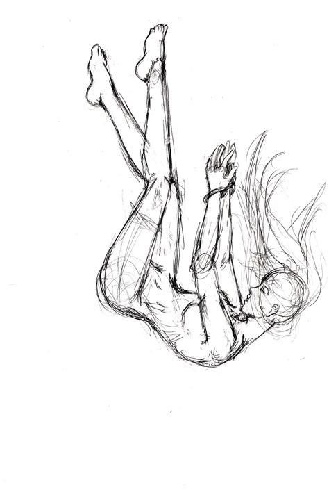 falling sketch  elishaaistrup  deviantart drawing