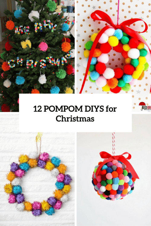 12 Soft And Cozy DIY Pompom Christmas Decorations  Shelterness