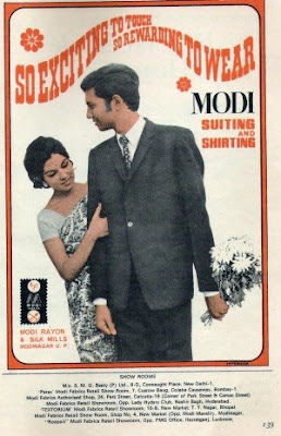 Ad for Modi Suitings