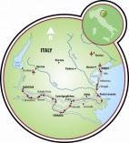 Mantova to Venice Map