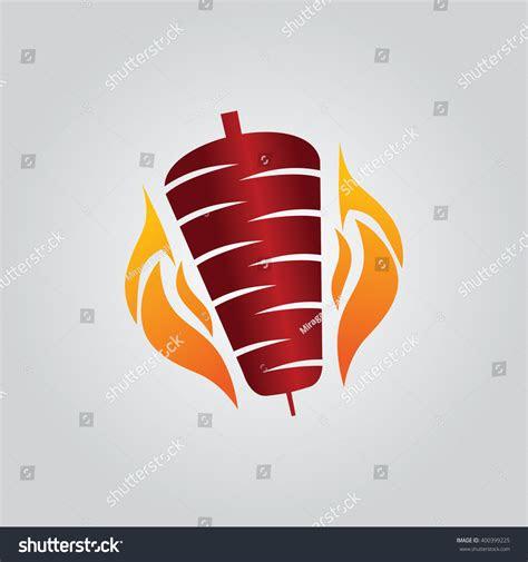 kebab icon kebab logo stock vector  shutterstock
