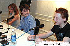 Harry Potter and the Chamber of Secrets press conference in New York