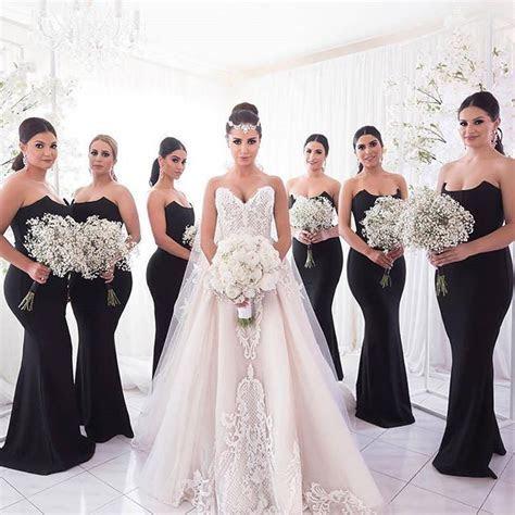 black mermaid bridesmaid dresses ? Little Black Dress
