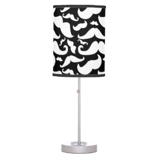Mustache Lamp Black and White