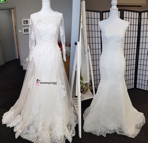 2 in 1 Wedding Dress Style Bridget Detachable Train