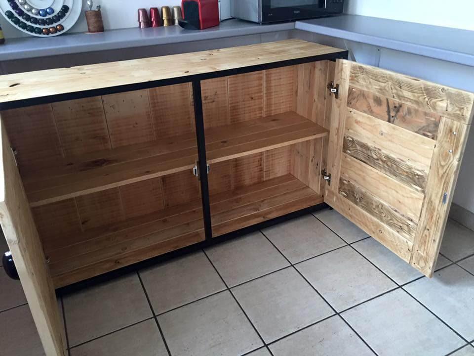 Pallet Wood Sideboard / Kitchen Cabinets | 101 Pallets