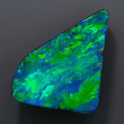 8.25 Carat Boulder Opal, Triangular Freeform, 21x13 mm