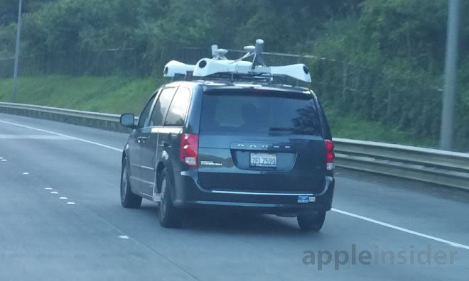 One of Apple's sensor-laden vans, spotted in Hawaii by AppleInsider reader matthawaii.