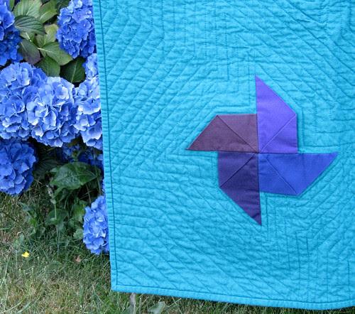 kona pinwheels detail blue