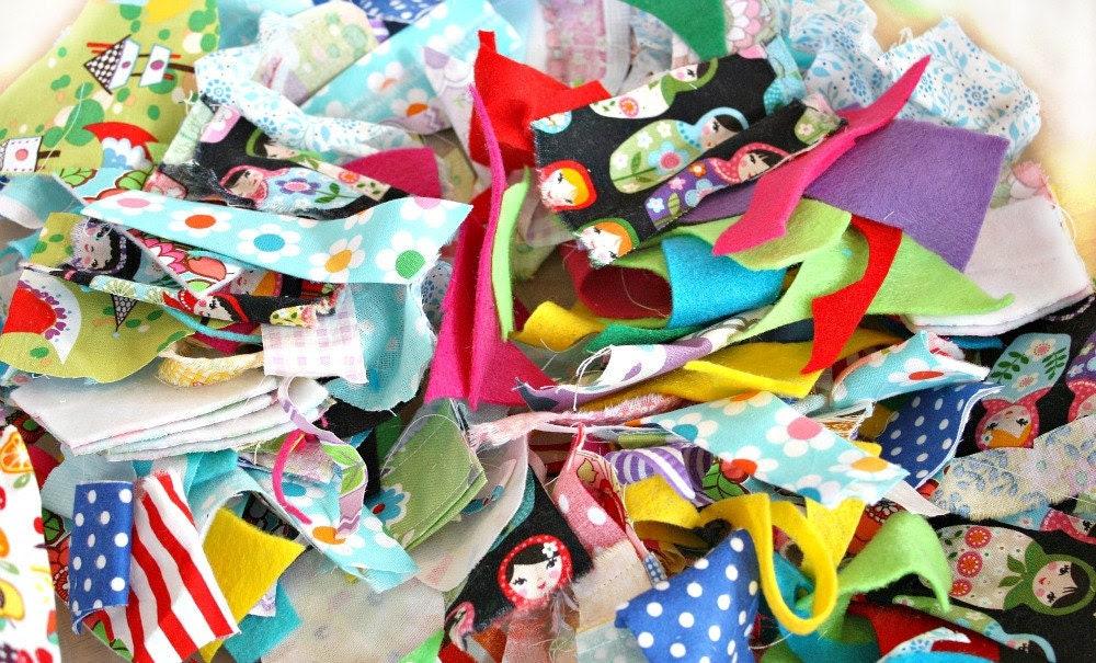 Confetti Scraps -- Happy and Colorful Fabric Bits
