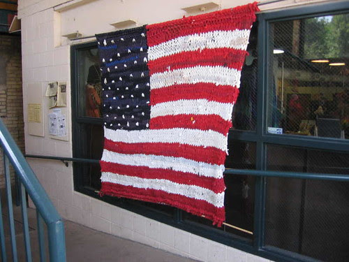 U.S. flag at City Knitting
