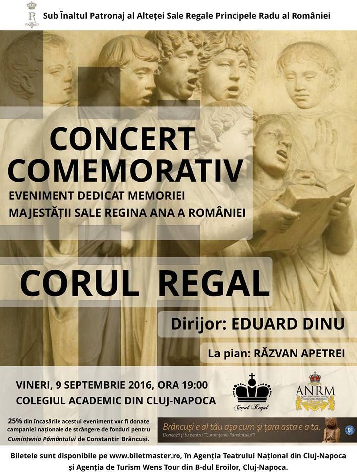 Concertul Corului Regal în memoria Reginei Ana