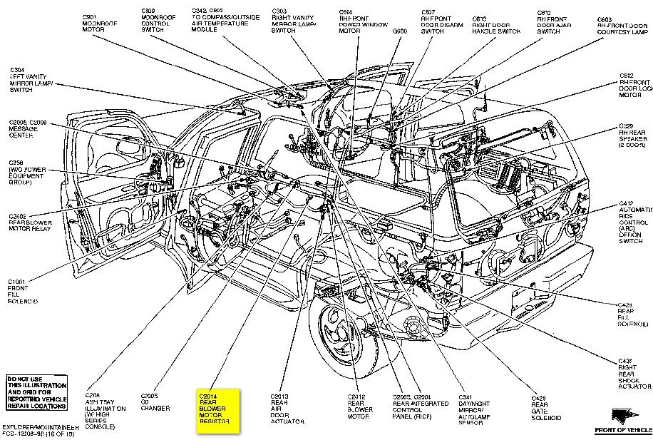 33 2013 Ford Escape Body Parts Diagram